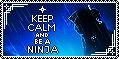 Ninja Keep Calm Stamp by AKoukis