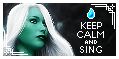 Sing Keep Calm Stamp by AKoukis