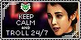 Troll Keep Calm Stamp by AKoukis