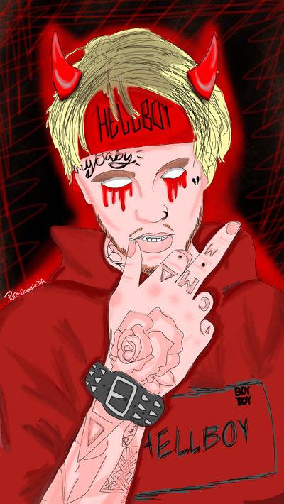0bc52b6f Hellboy (lil peep fan art) by pure-noodle on DeviantArt