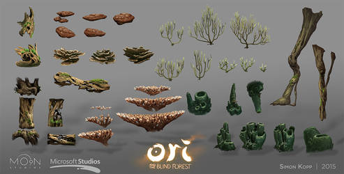 Ori and the Blind Forest - Ginso Tree Assets by acapulc0