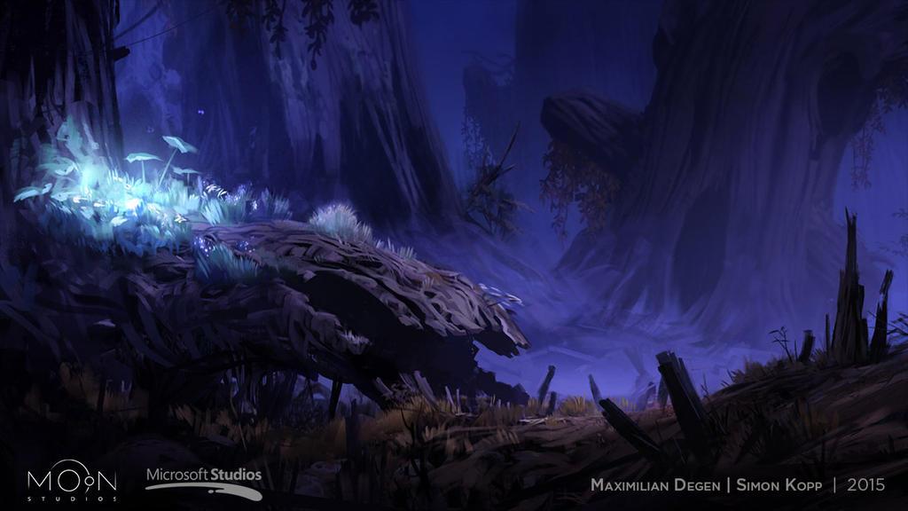 Steam Trading Card Illustration - Sunken Glades by acapulc0
