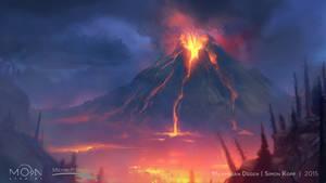 Steam Trading Card Illustration -  Mount Horu by acapulc0