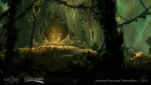 Steam Trading Card Illustration -  Thornfelt Swamp
