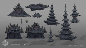Song of the Deep - Ruins Roofs and Buildings by acapulc0