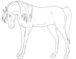 Lineart Number Two Mare by life-d-sign