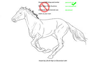 Race Horse Lineart by life-d-sign