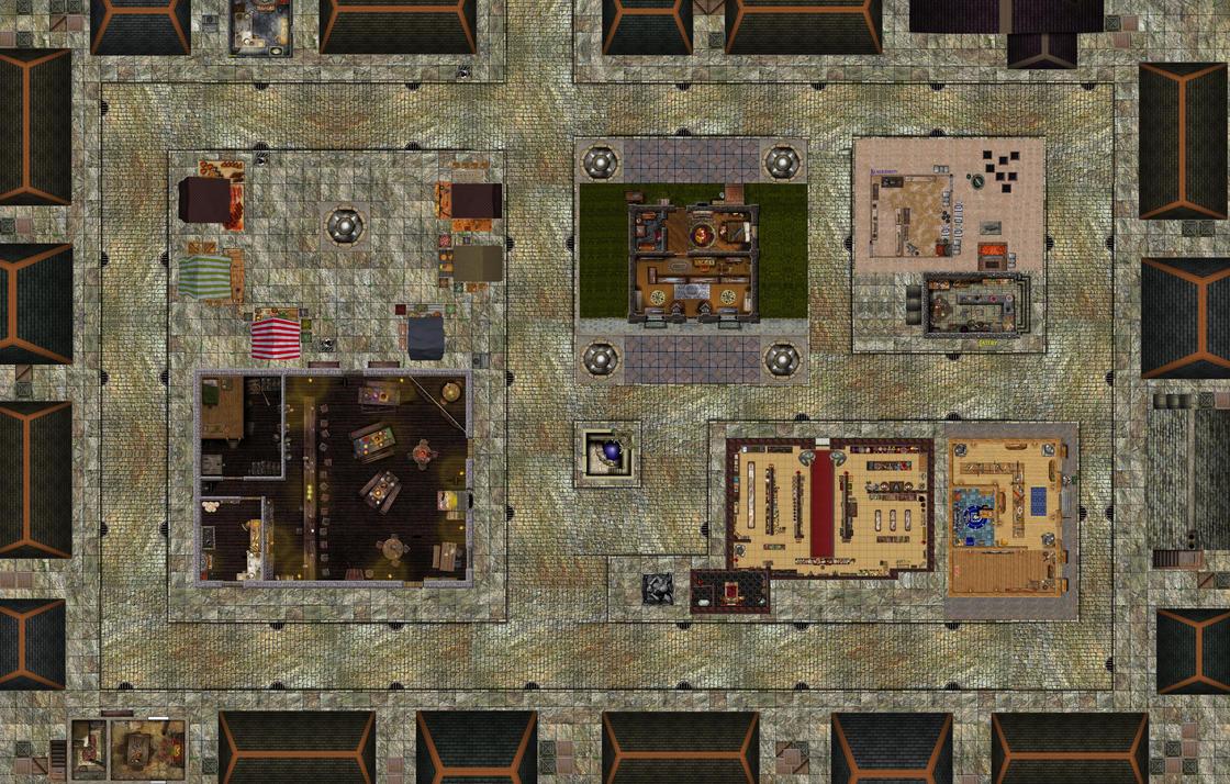 Monster Apocalypse Miniatures Game Buildings