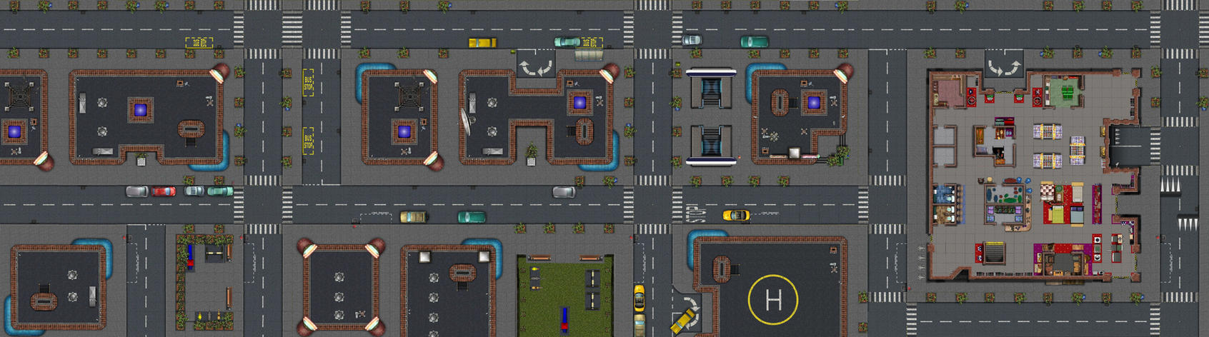 Modern or Sci-Fi Map - HUGE by cyderak