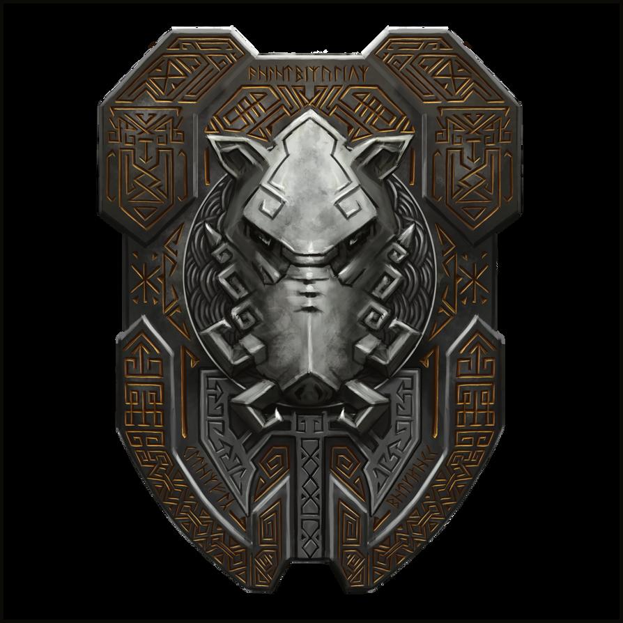 Dwarf-boar-shield-21 by cyderak