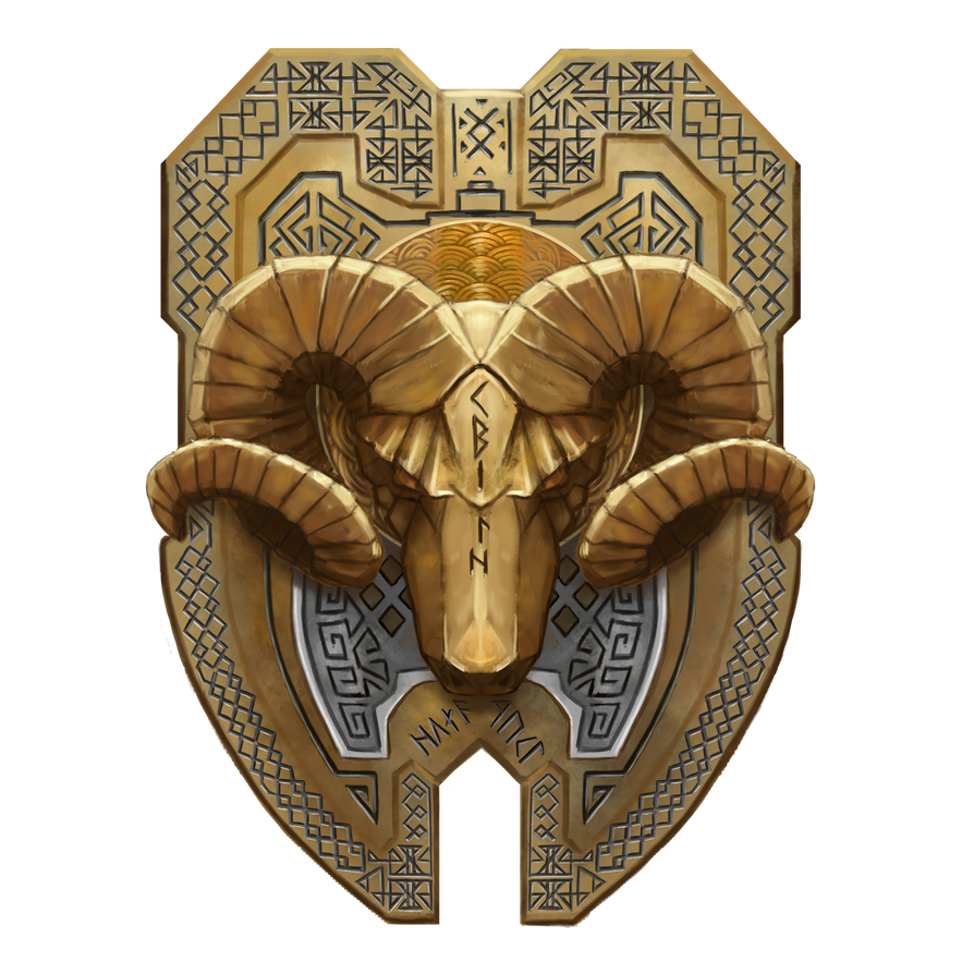 Dwarf-ram-shield-22 by cyderak