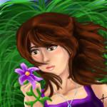 Gazing Upon the Petals by Silverarte