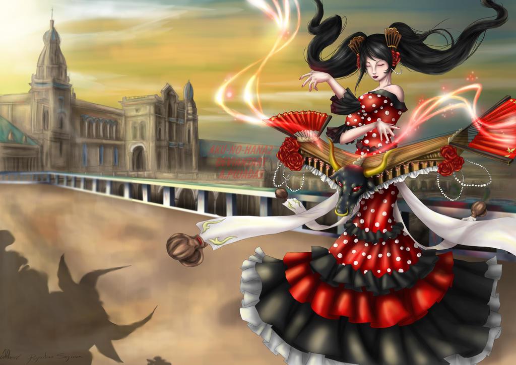 Sona Flamenca (league of legends) by aku-no-hana2