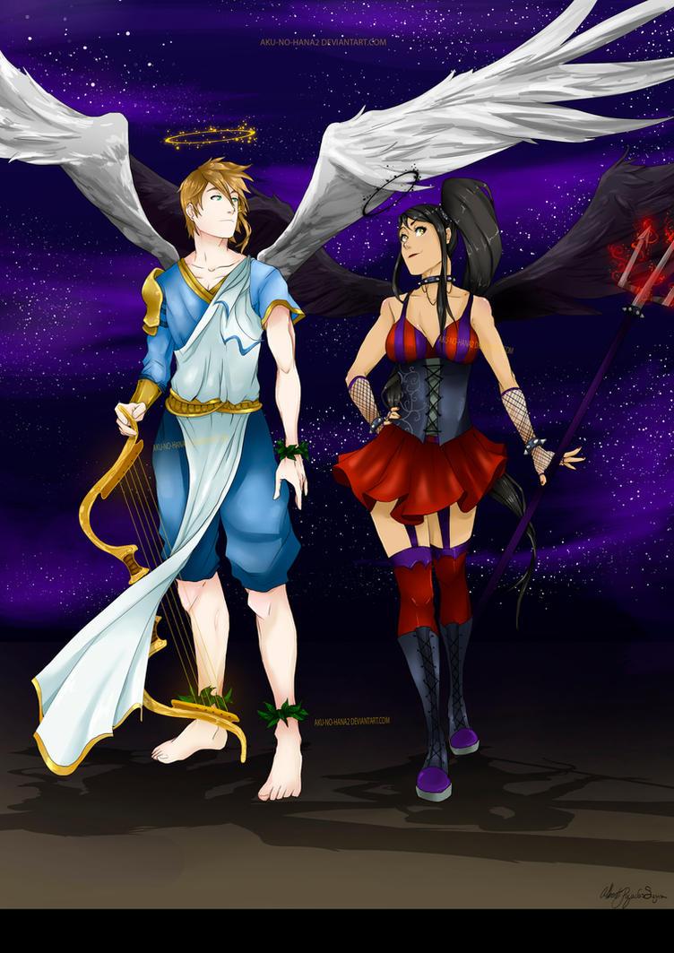 Request: Persephone Crow and Apollo Eagle by aku-no-hana2