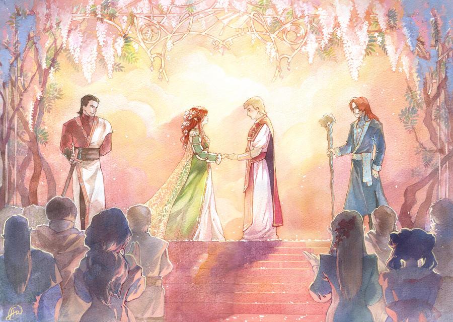 Commission: celestial wedding by Ariru-chi