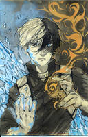 Ice and fire - ink 3 by Ariru-chi
