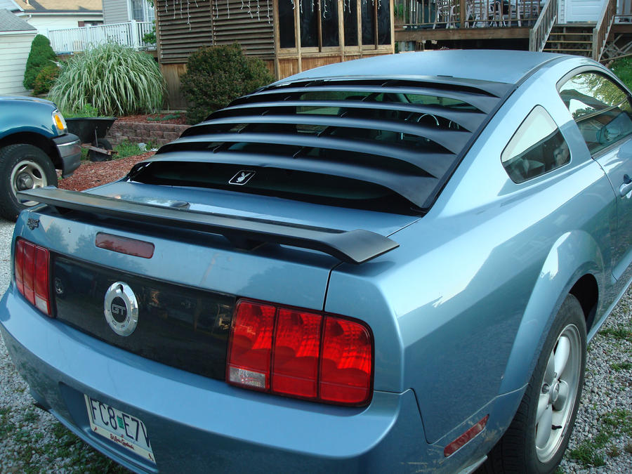 Rear window louvers on the 2007 by davidk1960 on deviantart for 2000 mustang rear window louvers