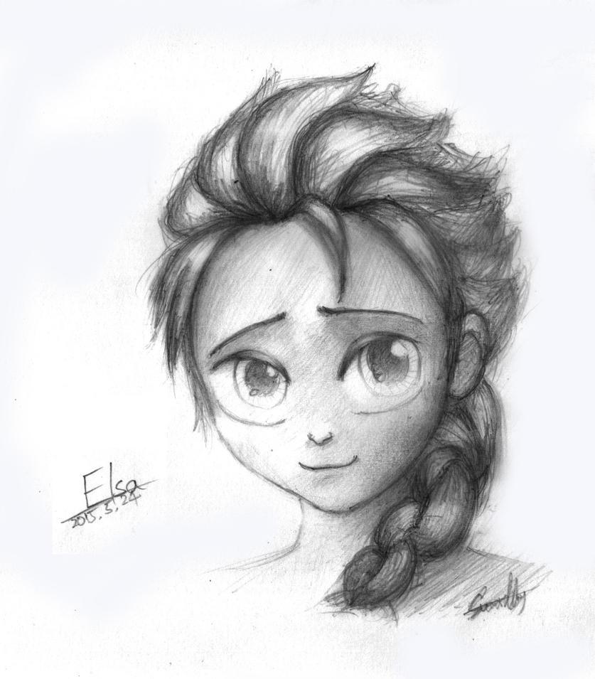 Elsa SKETCH By Summilly On DeviantArt