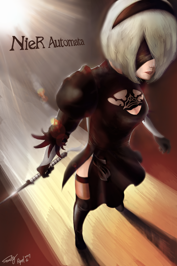 (April 7 finish!) Nier automata 2B by summilly
