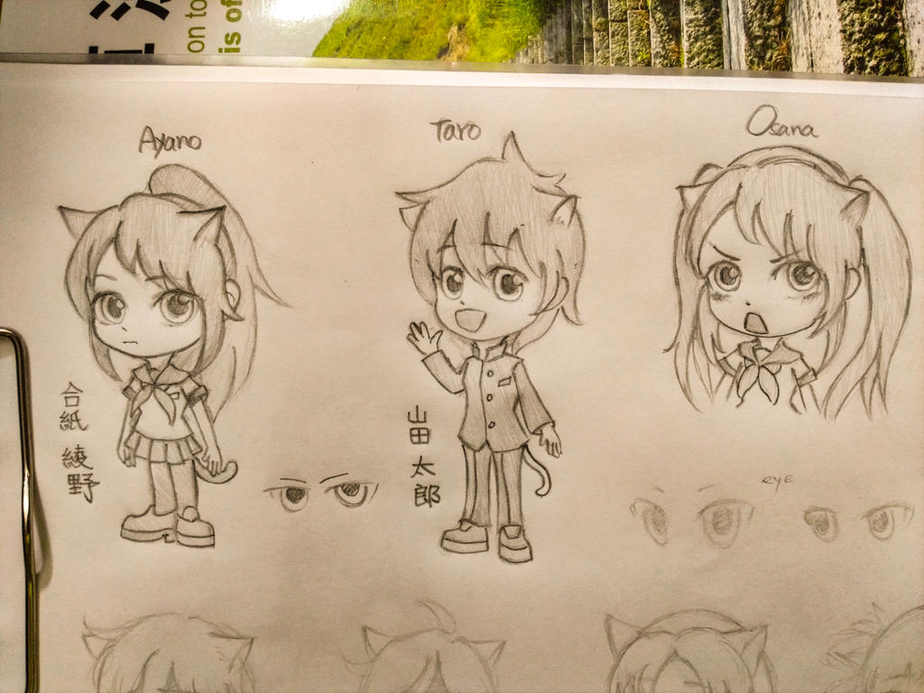 chibi Yandere Sim concept sketch2 by summilly