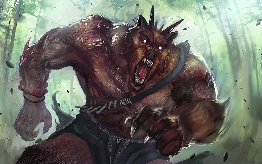 Bob the Werebear by ZeeJayWong