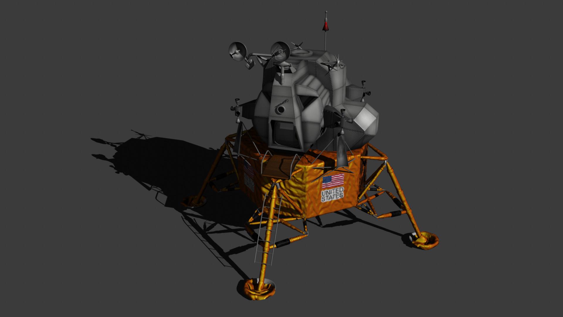 Lunar Module Eagle Textured by Denuvyer on DeviantArt
