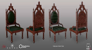 Halloween Gothic Chair - PSHome