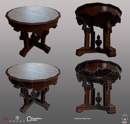 Halloween Marble Table - PSHome