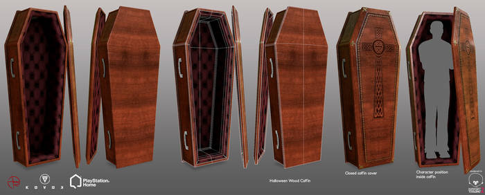 Halloween Wood Coffin - PSHome