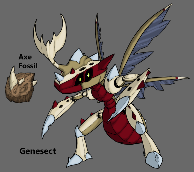 Pokemon BW3 2.0: Fossil Genesect by Midnitez-REMIX on DeviantArt