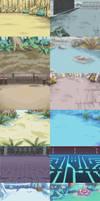 Digimon World Dawn: Battle BG Rips
