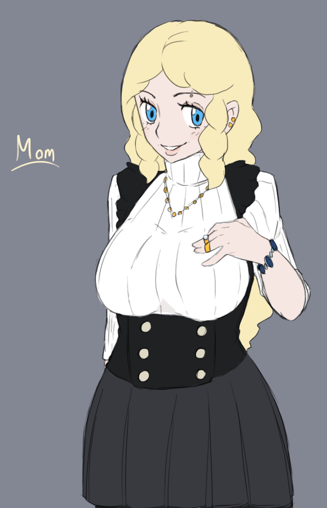 Pokemon Bw3 Mom Sketch By Midnitez Remix On Deviantart