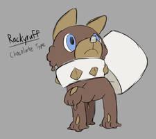 PokeSweet: Rockyruff by Midnitez-REMIX