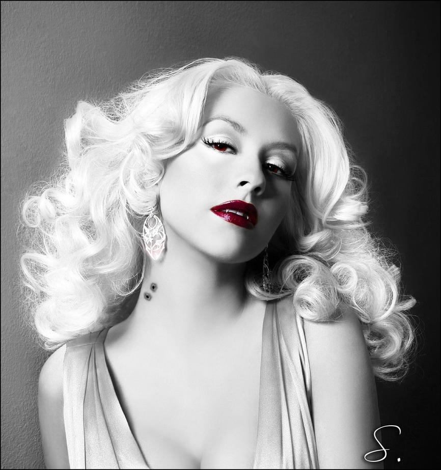 christina aguilera vampire 2 by Fleurine-Retore