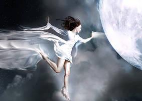Diane goddess of the moon, by Fleurine-Retore