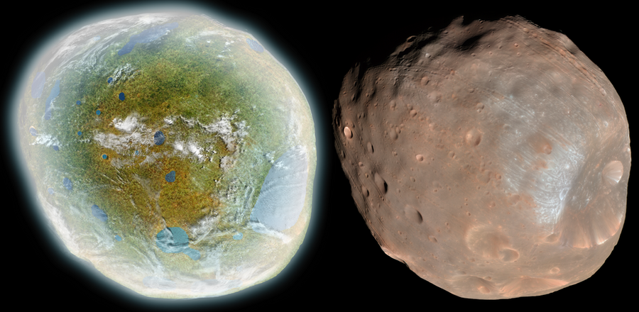 Terraforming the planet Mars by means of asteroids  Brodeck
