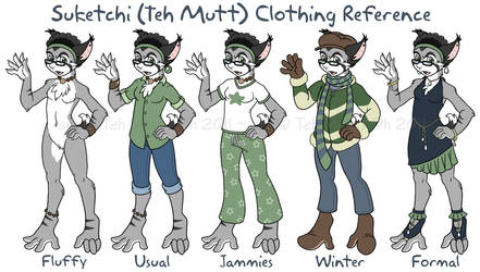 Teh Mutt Clothing Reference by TehMutt