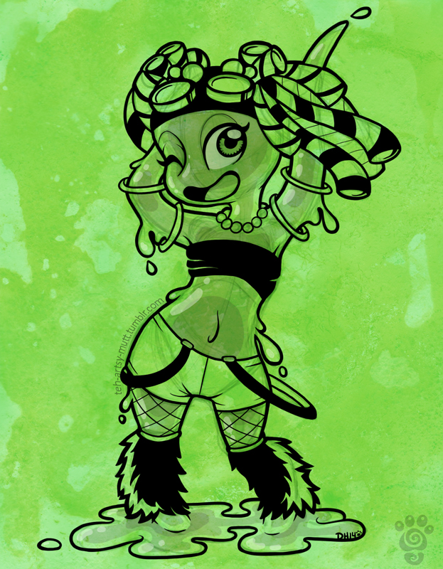 Triple Art Challenge: Raver Slime by TehMutt