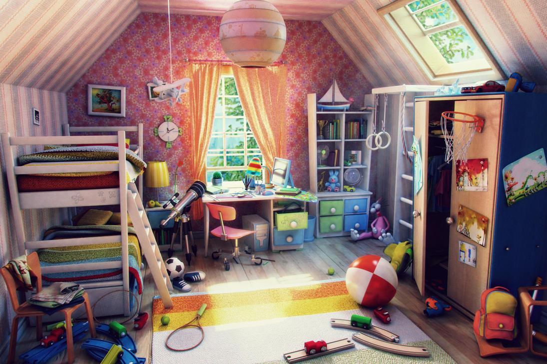 Children 39 s room by alekscg on deviantart for Home interior picture little girl