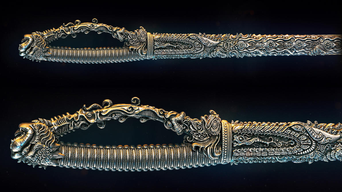 Indian sword by AleksCG