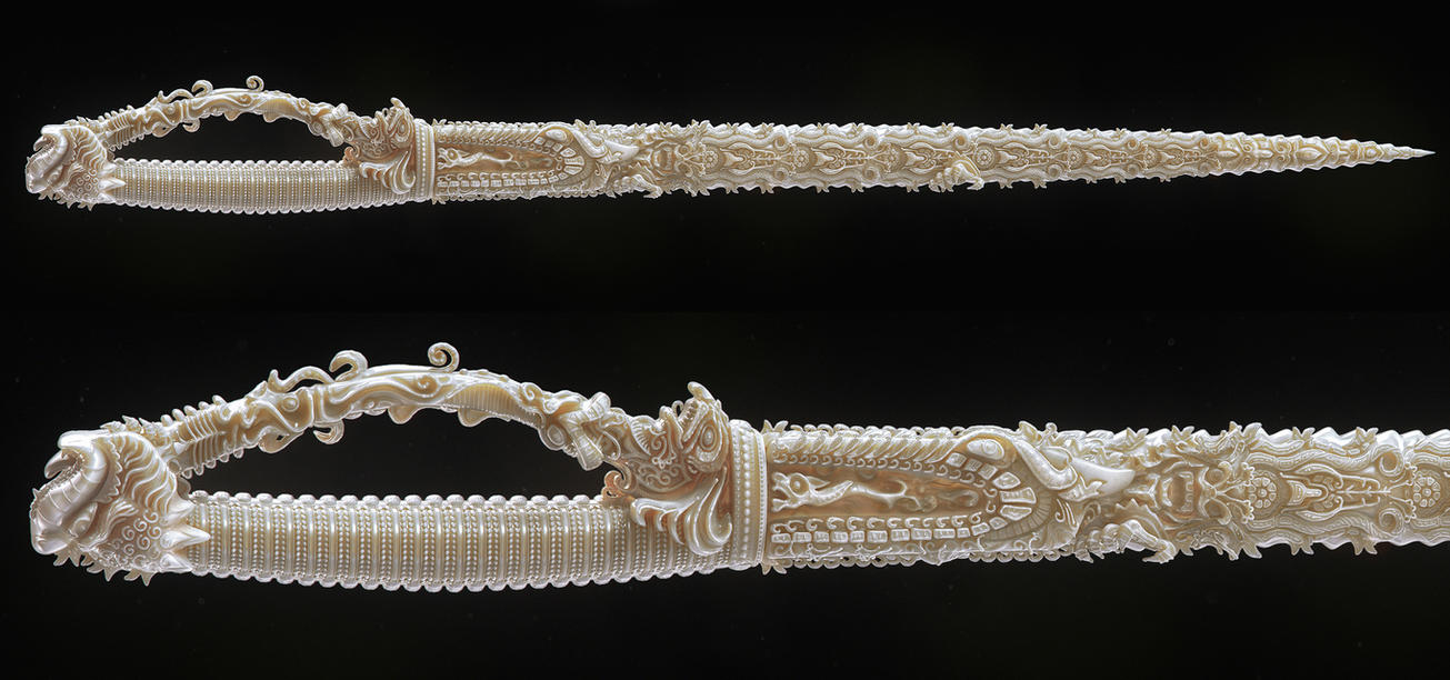 Indian sword/ Ivory by AleksCG