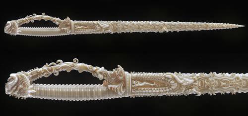 Indian sword/ Ivory