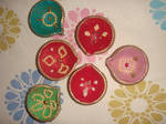 Decorated diyas 3 by bubbles4uin