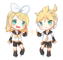 Rin/Len by U-Choco