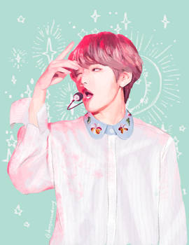 Pastel Taehyung from BTS