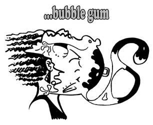 Monkey stapled to bubble gum by PaulBangerter