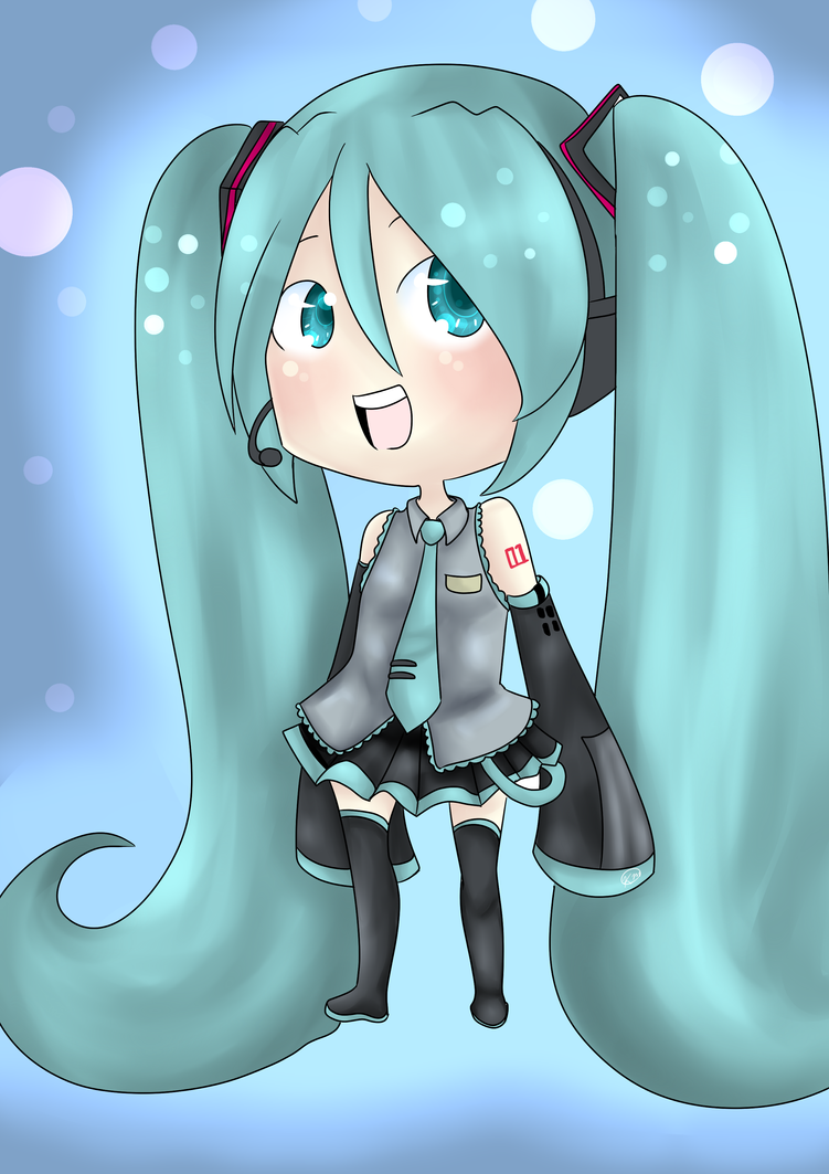 Chibi Miku by RadioactiveRina-chan