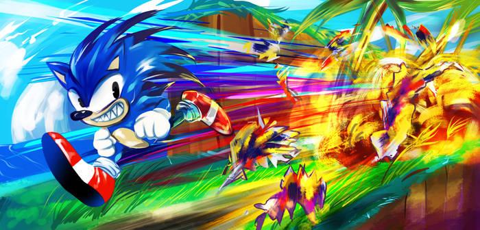Krita Test: Sonic the Hedgehog
