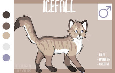 Warrior Cat Adopt- Icefall (CLOSED) by KHA0TIC
