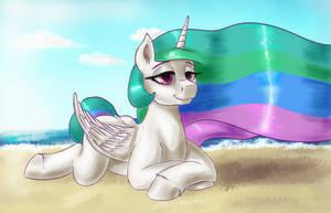 Princess on the beach by DukevonKessel